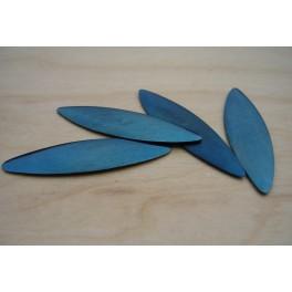 Plaques bombées acier bleui basson